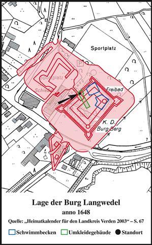 Lageplan Burg Langwedel