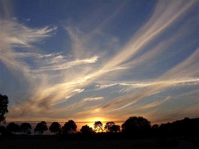 Sonnenuntergang in der Wesermarsch bei Langwedel