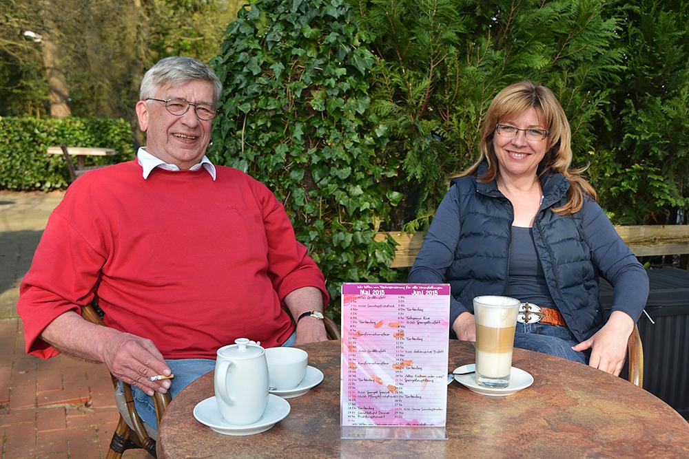 Nach getaner Arbeit gibt es den wohlverdienten Kaffee im Hofcafé Haberloh (Foto: Pöllnitz)