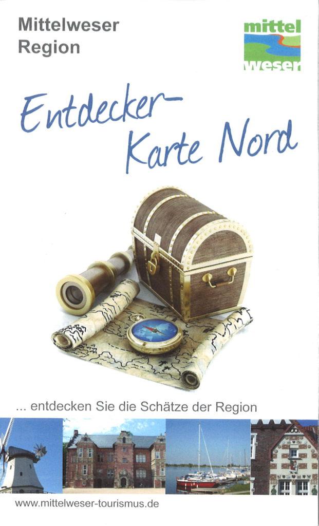 Titel Entdeckerkarte Mittelweser-Region Nord