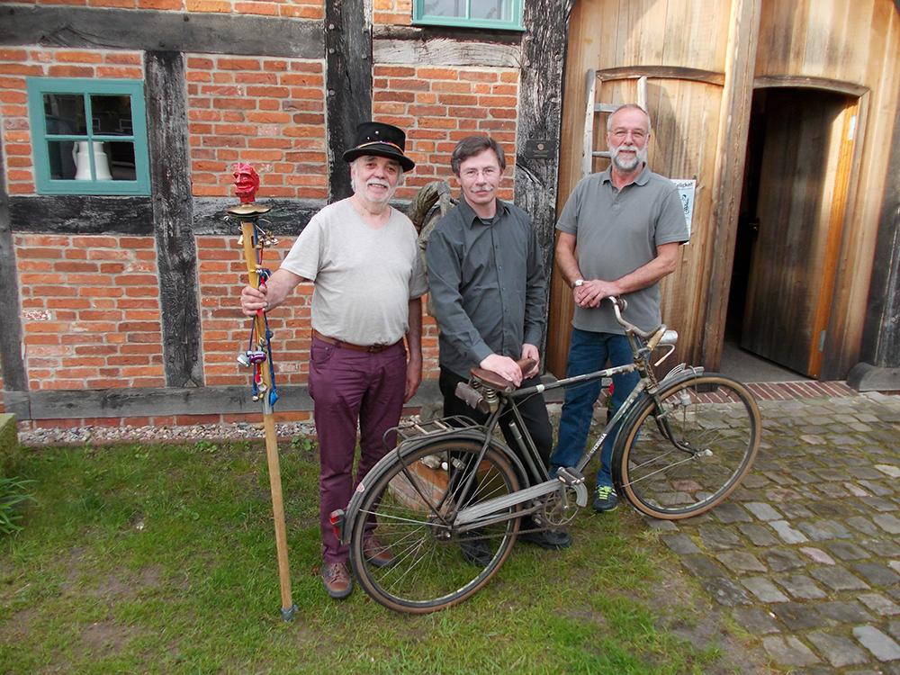 Günter Gall und Konstantin Vassilev im Häuslingshaus Langwedel